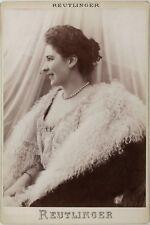 Marguerite Carrère-Xanrof, Soprano Opéra, Photo Cabinet card, Reutlinger