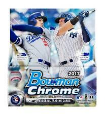 2017 BOWMAN CHROME BASEBALL HOBBY BOX - 2 AUTOS! ACUNA!