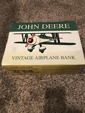 Spec Cast John Deere Vintage Airplane Bank Air Stearman Bi-plane Stock 37516