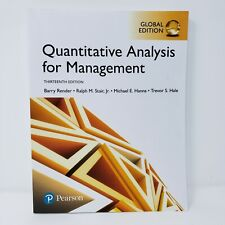 Quantitative Analysis for Management: 13th Edition: Global Edition: Pearson