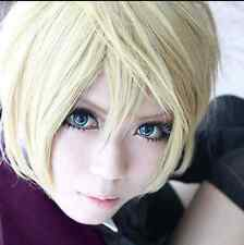 Black Butler Alois Trancy Cosplay Anime Short Hair Blonde Mix Wig Unisex Wear a0