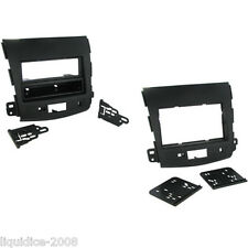 CT24MT09 MITSUBISHI OUTLANDER 2007 to 2013 BLACK SINGLE OR DOUBLE DIN FASCIA