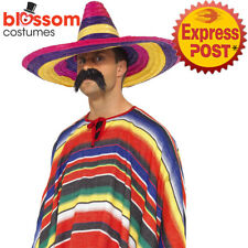 AC387 Large Mexican Sombrero Costume Party Hat Rainbow Spanish Fiesta Western