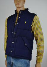 Ralph Lauren Navy Blue Fleece Vest/Yellow Pony -Medium- NWT