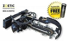 """Blue Diamond Trencher Skid Steer Attachment, 36"""" with 4"""" Combo Chain & Auger"""