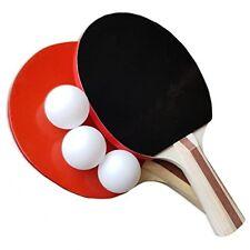 Tischtennis-Schläger-Set: 2 Schläger in Turnier-Qualität + 3 Bälle Profiqualität