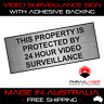 24HR VIDEO SURVEILLANCE - SILVER SIGN - LABEL - PLAQUE w/ Adhesive 100mmx40mm