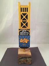 New Helvetia Buffalo Lager Beer Tap Handle Figural Bridge Beer Tap Handle