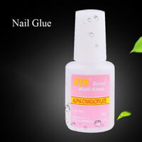 beautiful nail art glue with brush on strong adhesive fake acrylic false tip RA
