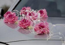 JULKA PINK  wedding car decoration flowers  ribbon bows prom limousine  wesele