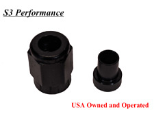 "-3AN Tube Sleeve Tube Nut AN3 Fitting Adapter to 3/16"" BLACK nitrous brake"
