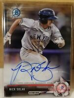2017 Bowman Chrome NICK SOLAK Rookie Autograph Texas Rangers RC Autograph