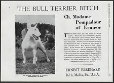 BULL TERRIER OLD VINTAGE 1950'S USA CHAMPION KENNEL DOG BREED ADVERT PRINT PAGE