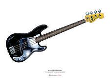 Phil Lynott's Fender P Bass Arte Poster A2 SIZE