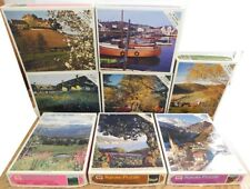 Vintage Lot of 8 Whitman Jigsaw 600 Piece Puzzles