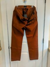Todd Snyder Japanese Garment Dyed Selvedge Chino in Chestnut 34x32