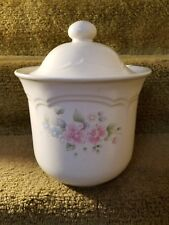 """PFALTZGRAFF  Canister  PINK TEA ROSE  8 """" tall / 9 """" in Dia with Lid Nice"""