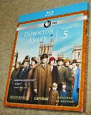 Downton Abbey: Season 5 (Blu-ray Disc, 2015, 3-Disc Set), NEW AND SEALED, PBS