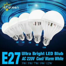 E27 B22 E14 Energy Saving LED Bulb Light 3/5/7/9/12W Cool Warm White Lamp x1/4