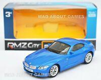 BMW Z4 New 10 cm 4'' Toy Car Metal Model Diecast Miniature Blue