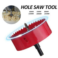 60-135mm HOLE SAW M42 HSS Bi Drill Cutter Bit Holesaw Arbor Metal/Alloy/Wood