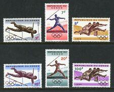Congo Democratic Republic Scott #492-497 MNH OLYMPICS 1964 Tokyo CV$2+