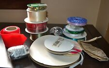 Lot of 15 Ribbon spools Some New, Some used, different sizes, Nylon Polyester