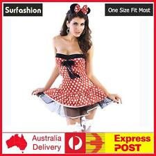 Sexy Mickey Mini Mouse Disney Fairy Tale Fancy Dress Costume One Size Fit #8302