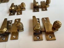 Set Of 4 Bee Hive Sash Window Locks Brass