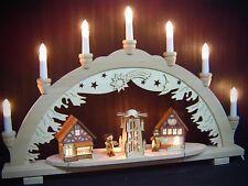 Arc à lumière à bougies 3D marché de Noël avec enfants 57x38 cm 10 lumières