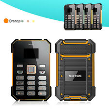 Ultra Thin Naranja Soyes S1 Mini Pocket Touch Card Cell Phone FM MP3 Bluetooth