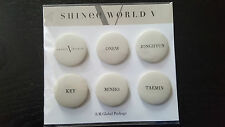 SHINee World V 5 Concert Official MD Member Name Buttons NEW