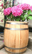1 L Solid Oak Wooden Barrel Herb Flower Planter Pot For Garden Patio reclaimed