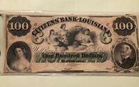 Citizen's Bank of Louisiana $100 Obsolete Note - UNC🔥