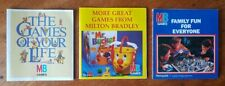 Vintage Milton Bradley Boardgame Flyers x 3 Collectable 1980's Games Advertising