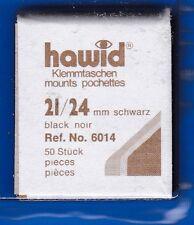 hawid 6014   50 Zuschnitte 21x24 mm schwarz