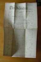 Original Vintage 1870 Lancaster County Pennsylvania Land Deed Indenture