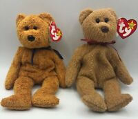 1999 RARE TY Original Beanie Baby Fuzz & 1993 Curly BOTH With Multiple ERRORS