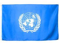 Fahne UNO Vereinte Nationen 90x150cm Flagge Wappen Olivenzweige Friedenszeichen