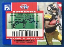 Antwaan Randle El 2007 Topps TX Autograph Super Bowl Ticket Stub Steelers
