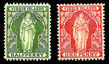 VIRGIN ISLANDS - Scott 21-22 1899 St. Ursula With Lilies - MNH CV $10.25 Hinged