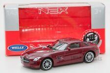 Mercedes-Benz SLS AMG red, Welly 44033, scale 1:43, model toy car boy gift