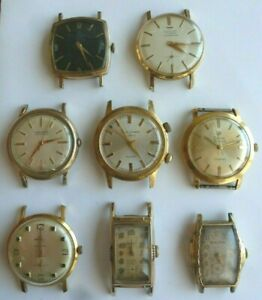 Lot of 8 Men's Vintage Wristwatches - Zodiac Automatic, Bulova, Alarm Watch more
