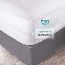 """Premium Zippered Waterproof Mattress Encasement Bed Bug Proof Protector 15"""" Deep"""