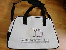 Para markenbewusste: ligera Lacoste-bolsa de gimnasia. adecuado al aroma l.12.12 Blanc