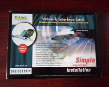 D-LINK Network Interface Card DFE-538TX/R PCI adapter ethernet wake-on-LAN