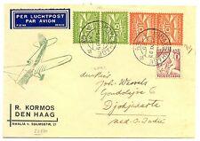 NEDERLAND 1935-11-1  FLIGHT CV TO INDIE -FRAAI- 3 ZIJDEN OPEN