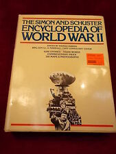 "OLD VTG 1978 BOOK ""THE SIMON & SCHUSTER ENCYCLOPEDIA OF WORLD WAR II"" VG COND"