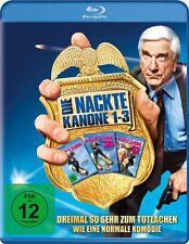 DIE NACKTE KANONE 1-3 TRILOGIE (Leslie Nielsen) 3 Blu-ray Discs NEU+OVP