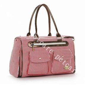 Petcare Pet Dog Cat Tote Bag Stripe Canvas Carrier Handbag Medium 5 Colors